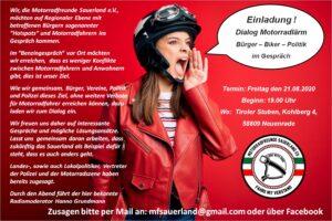 Dialog Motorradlärm